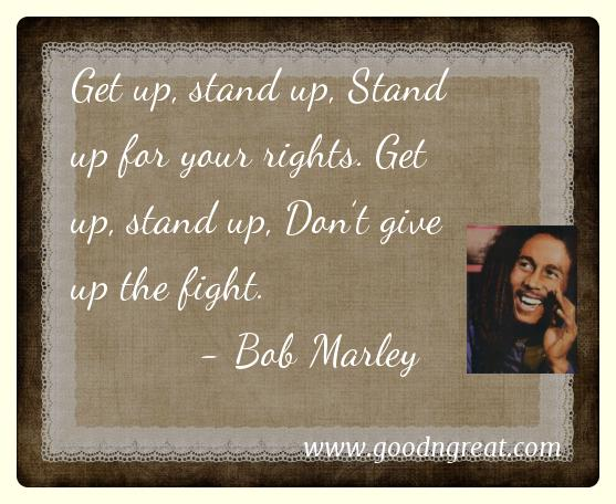 Bob Marley GoodNGreat Quotes