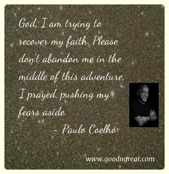 Prayer GoodNGreat Quotes Paulo Coelho