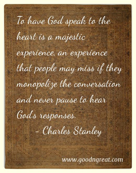 Prayer GoodNGreat Quotes Charles Stanley