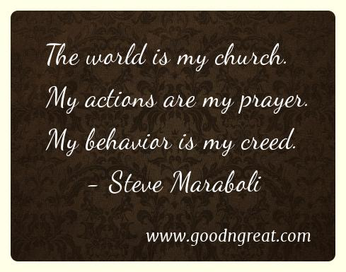 Prayer GoodNGreat Quotes Steve Maraboli