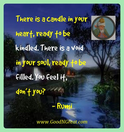 Inspirational Quotes Of Rumi There Is A Candle In Your Heart