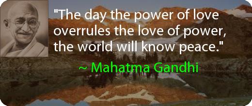Gandhi Mahatma Peace Quotes