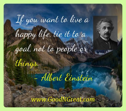 Albert Einstein If You Want to Live Happy Quotes