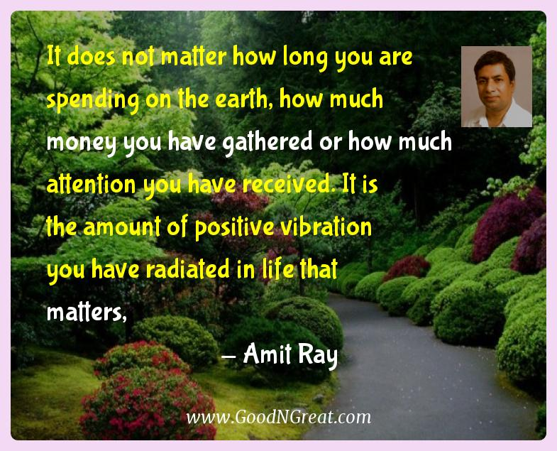 Amit Ray Inspirational Quotes  - It does not matter how long you are spending on the earth,