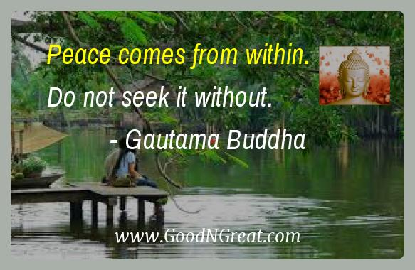 daily inspirational quote by gautama buddha good and great