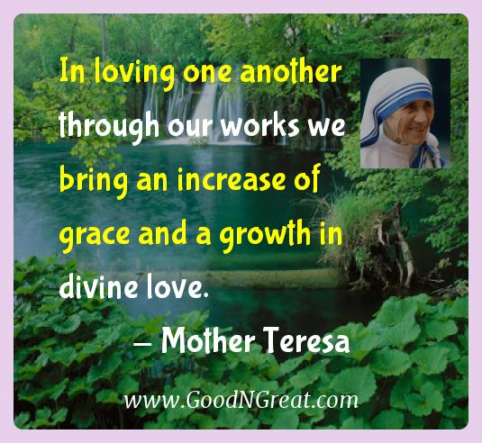 mother teresa inspirational quotes in loving one another