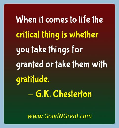 G.K. Chesterton Gratitude Quotes