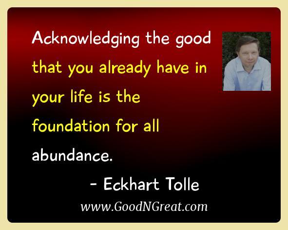 Eckhart Tolle Gratitude Quotes