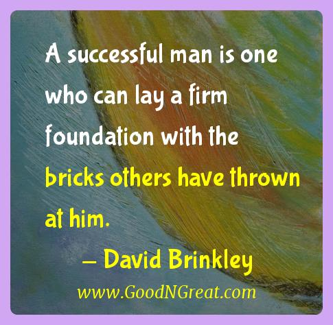 David Brinkley Success Quotes