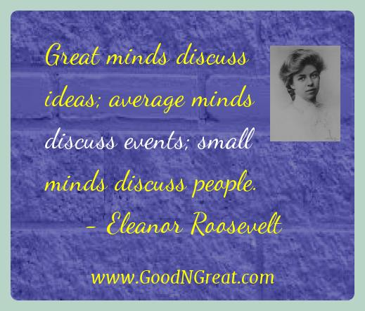 Eleanor Roosevelt Success Quotes