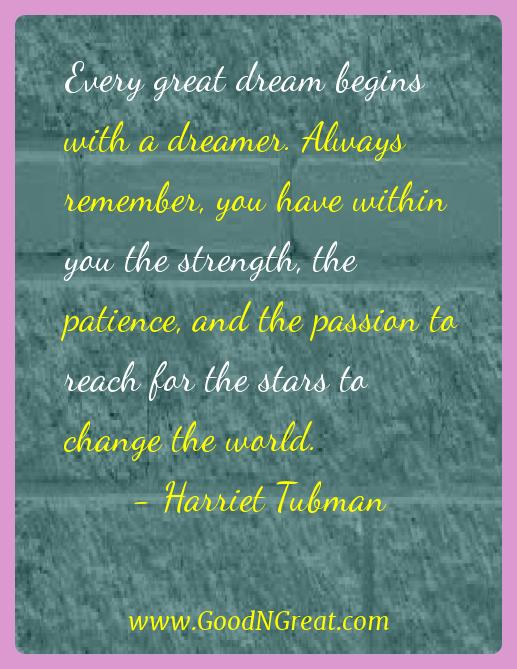 Harriet Tubman Success Quotes