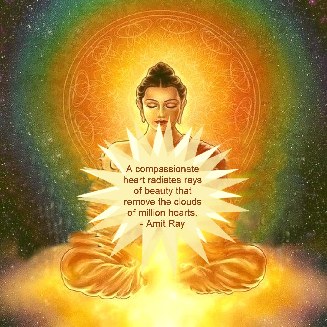 A compassionate heart radiates rays of beauty that remove the clouds of million hearts. -- Amit Ray