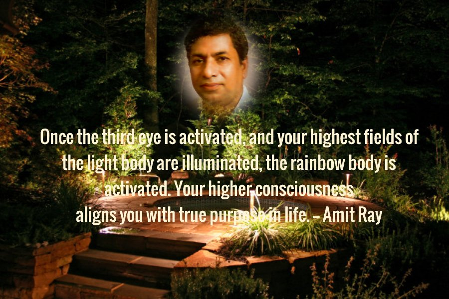 Third Eye Activation Light Body Amit Ray Quotes