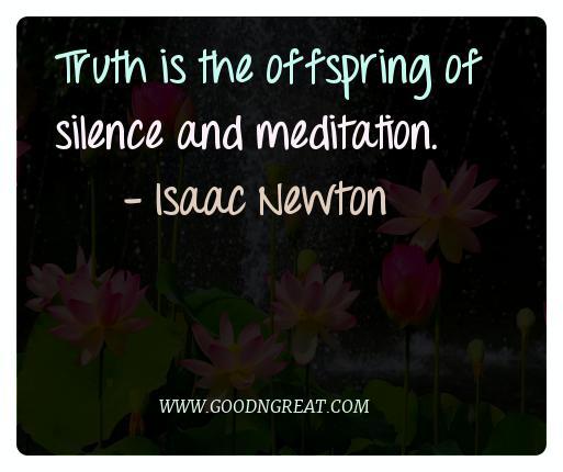 Meditation Quotes Isaac Newton
