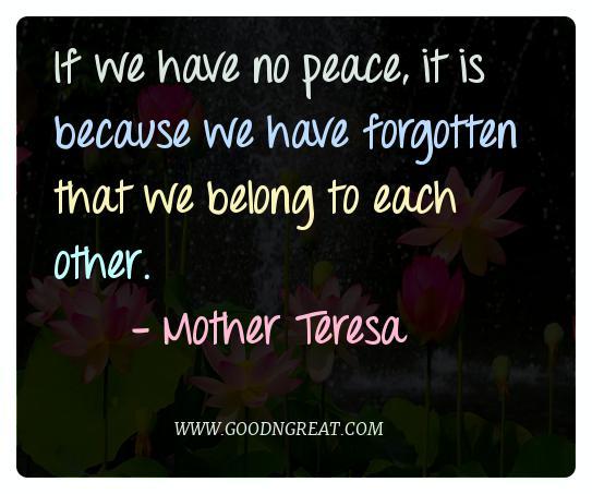 Meditation Quotes Mother Teresa