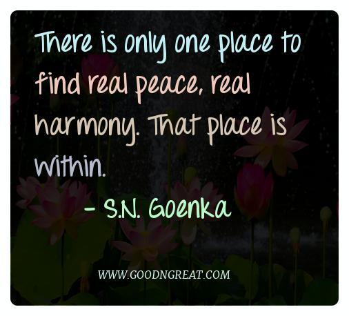 Meditation Quotes S.N. Goenka