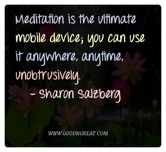 Meditation Quotes Sharon Salzberg