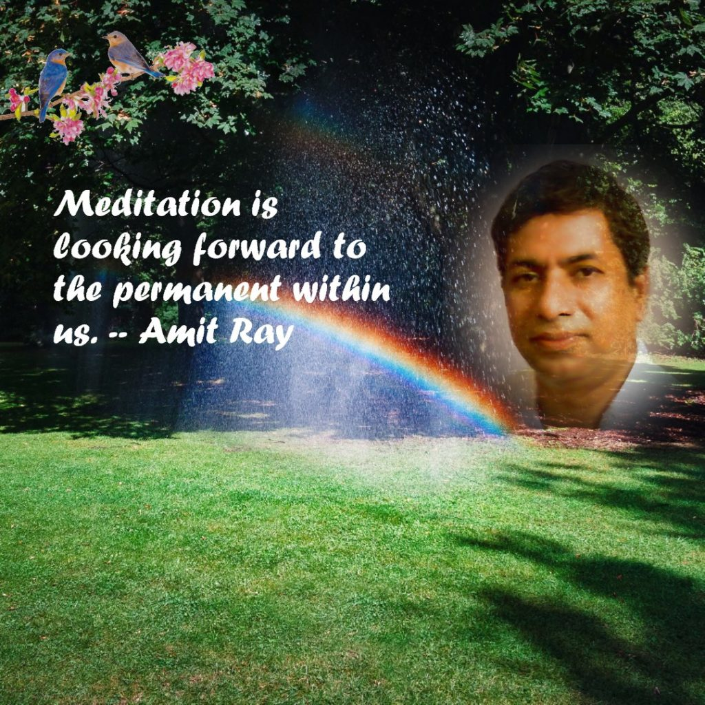 Meditation is looking forward to the permanent within us. -- Amit Ray