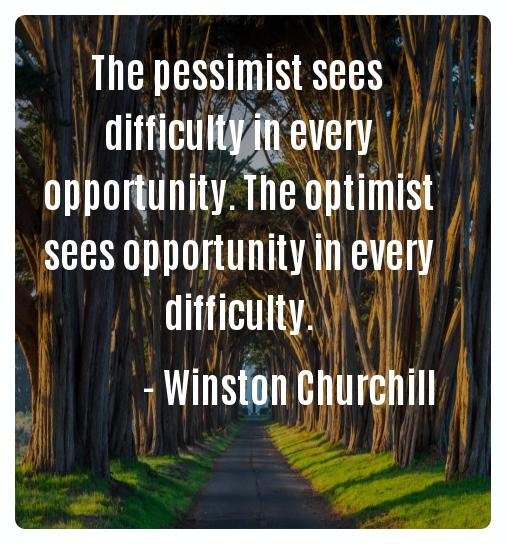 Positive thoughts Quotes Winston Churchill