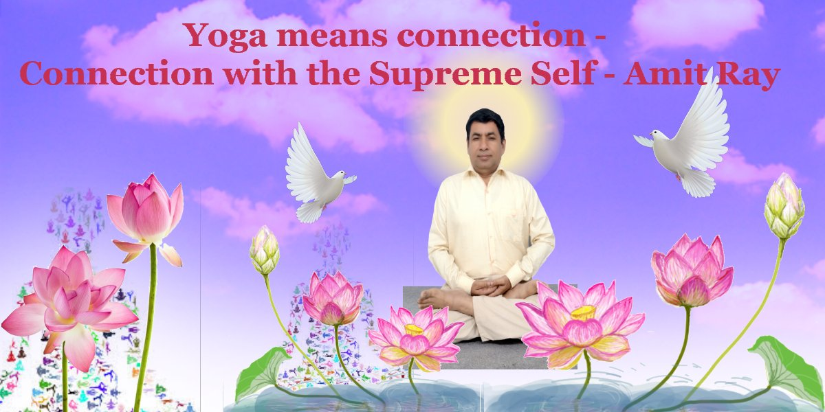 Yoga means connection - connection with the Supreme Self- Amit Ray