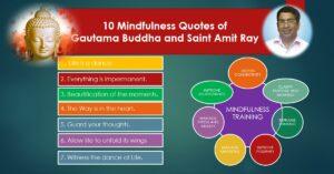 10 Mindfulness Quotes of Gautama Buddha and Saint Amit Ray