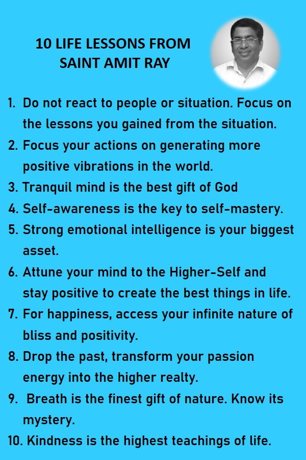 10 life lessons from Saint Amit Ray Teachings