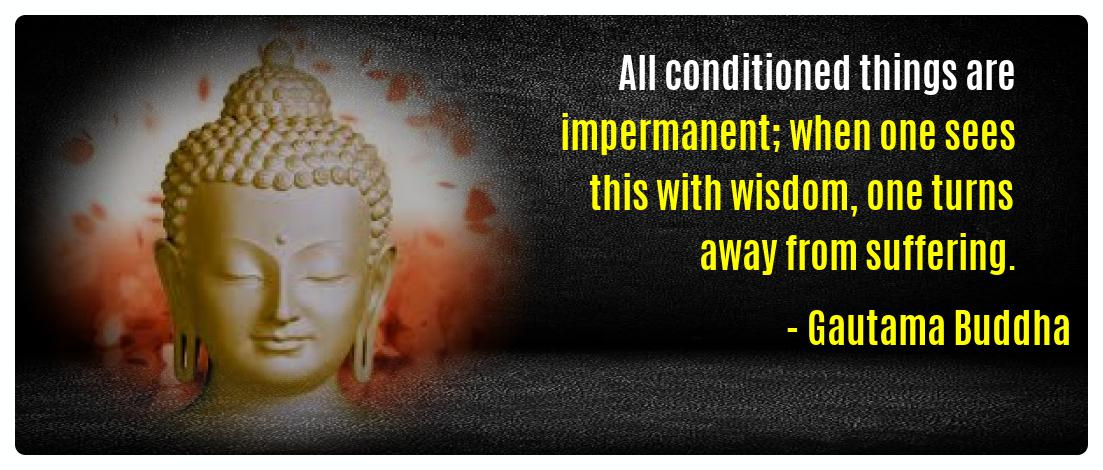 All conditioned things are Gautama Buddha Mindfulness Quotes